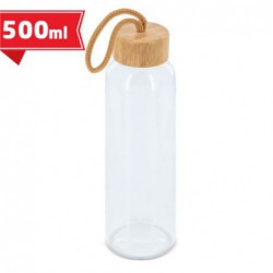 Botella cristal tapón bambú...